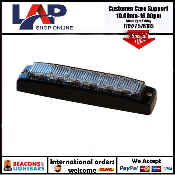 LAP Electrical 6 LED 10/30v Dual Voltage Amber strobe PN: LED6R65